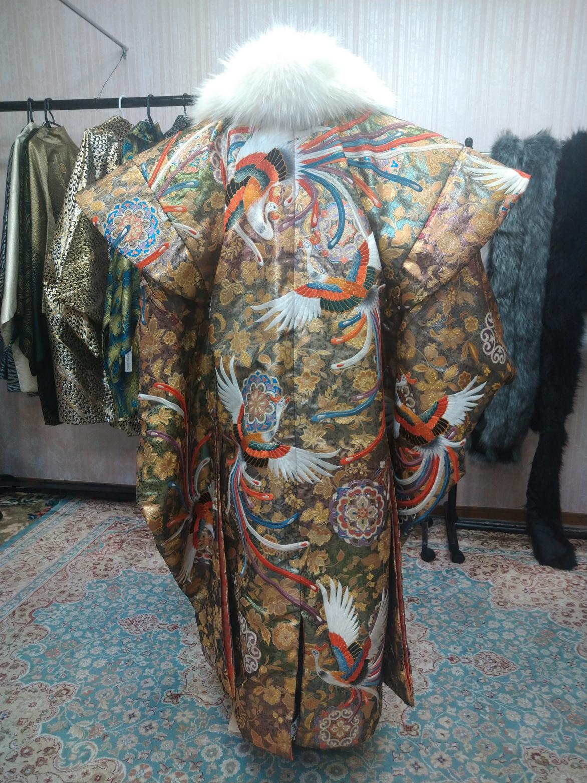 男性羽織袴【664】バサラ迷彩金色鳳凰