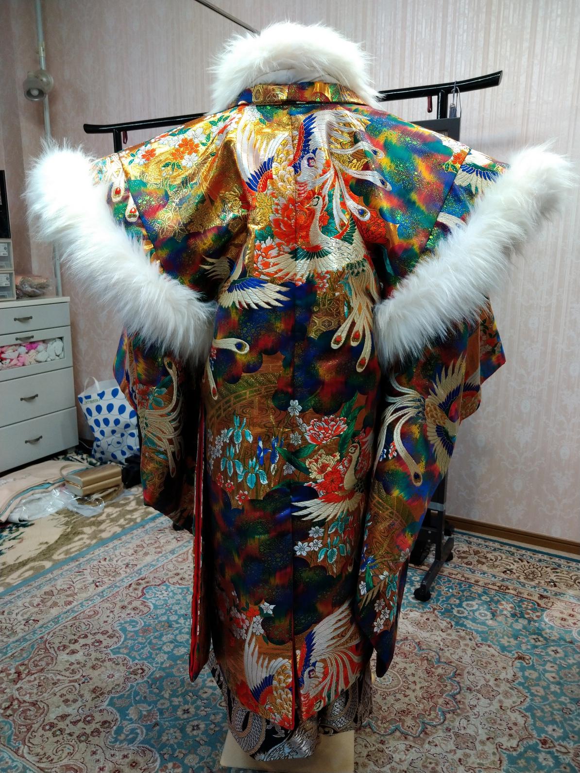 男性羽織袴【699】 バサラ 鳳凰オーロラ暈し